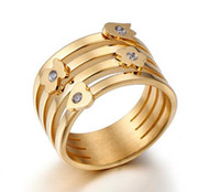 Wholesale Best Gold Rings - 2018 best selling brand jewelry Bear jewelry quality stainless steel bear fashion ring gold plated top selling brand jewelry