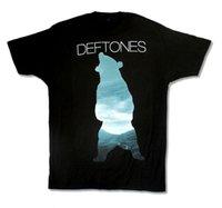 ingrosso v immagini delle maglie a collo-DEFTONES BEAR IMAGE BLACK T-SHIRT NEW UFFICIALE UOMO T-Shirt Uomo Abbigliamento Taglie forti Stampa T-shirt manica corta O-Collo
