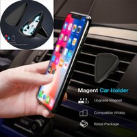 Wholesale car step - Car Magnetic Mount Holder Air Vent Universal Car Mount Phone Holder for all cell phone One Step Mounting Reinforced Magnet Easier Safer Driv