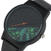 Wholesale Unique Stainless Designs - Unique Unisex Watches Tropical Jungle Design Quartz Wristwatch for Men's Women's Creative Casual Sport Clock Hour Gift 2018