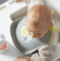 baberos de silicona envío gratis al por mayor-Hotsale nuevo diseño impermeable baberos de alimentación de silicona bebé baberos burp paños de lavado fácil baberos envío gratis