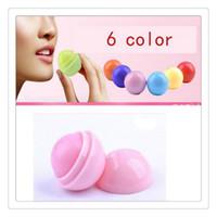 Wholesale wholesale organic lip balm - Wholesale 3D Ball Lips Lipstick Organic Ingredients Lip Balm Natural Plant Sphere Fruit Embellish Babylips Care Free DHL