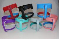 ingrosso portaoggetti in acciaio inox-Manico di plastica portatile della maniglia di plastica di 4 colori per le tazze della tazza dell'acciaio inossidabile della tazza da 30 once in azione