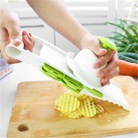 suministros de vegetales al por mayor-Máquina de cortar verduras para frutas y verduras 5 en 1 Multifuncional Potato Mandolin Peeler Green Home Kitchen Supplies Envío gratis