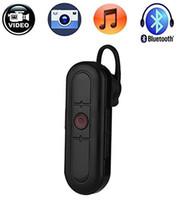 гарнитура dvr оптовых-32 ГБ HD 1080P мини-гарнитура камеры 2 в 1 Bluetooth наушники мини видеокамеры Bluetooth гарнитура поддержка фото принимая безопасности DVR Бесплатная доставка
