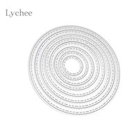 Wholesale craft dies - DIY Circle Metal Cutting Dies Stencils Embossing Card Scrapbooking Album Decoration Craft Die Cutting Template Folder Suit