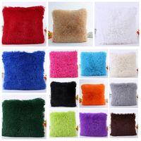 Wholesale cars 43 online - 43 cm Christmas Faux Fur Pillow Case colors For Sofa Car Cushion Plush sea lion Pillow Cover Pillowslip Bedding Decor AAA1388