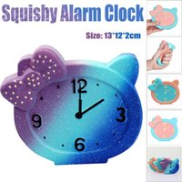 Wholesale toy clocks - Squishy Simulation Cute Alarm Clock Slow Rising Squeeze Decompression Toys Decoration Kids Toy Gift Stress Relieve Fun NNA280