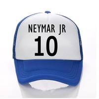 Wholesale world cup hats resale online - 2018 World Cup NEYMAR JR Hats Men Trucker Hat Summer Child Adult Baseball Hats Sun Caps Boy Snapbacks NEYMAR JR Fans of football Cap