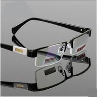MEN Titanium Alloy Eyeglasses Gafas De Lectura Non Spherical 12 Layer Coated Lenses Reading Glasses+1.0 +1.5 +2.0 +2.5 +3.0 +3.5+4.0