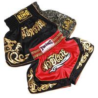 meias pretas para crianças venda por atacado-S-xxl tamanho mma calções pantalonetas mma pantalon boxe tailandesa calções justas luta calções de fitness para crianças homens preto vermelho