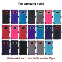 Wholesale Mobile Armor - For samsung galaxy note8 S8 S7 S6edge+ s8+ Heavy Duty Defender case Impact Hybrid Armor Kick-Stand Case Plastic Mobile Phone Cover