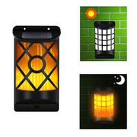 Wholesale patio deck lighting for sale - 1 pack Epacket Solar Wall Lights Outdoor Led Waterproof Lighting for Deck Fence Patio Front Door Yard and Driveway Path