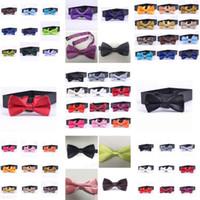Wholesale korea fashion clothing men resale online - New Style Children Necktie Pure Colored Bow Tie Leisure Korea Style Clothing Accessories British Bowknot T7C025