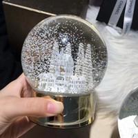 ingrosso fiocchi di neve di vetro-Albero di Natale Sfera di cristallo di vetro Arte del globo Decorazione della casa Palla di fiocchi di neve di Natale Bambini Regali XMAS WX9-494