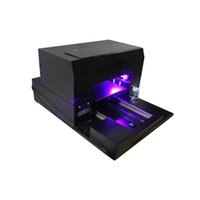 Wholesale uv printing machine resale online - A3 size phone case UV printer mobile phone cover printing machine LED lamp UV flatbed printer