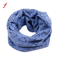 Wholesale girls neck accessories online - Autumn Winter Baby Coon Neck Scarf Cute Print Children Warm Scarf Kids Collars Boys Girls O Ring Scarf Cloth Accessories