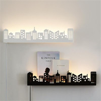 başucu duvarı lambaları toptan satış-Sıcak Satış LED Akrilik Duvar Lambası Aplik LED Duvar Işık Güzel Karikatür Çift Renk Sahne Lambası Başucu Yatak Odası Kapalı Light2018 yeni Modern Led