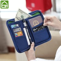 Wholesale Women S Clutches - Multipurpose Passport Cover Bag Short Wallet Card Holder Storage Clutch Purse Travel Accessories for Women and Men