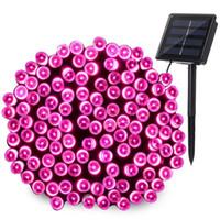 Wholesale pink mode - Blue&Green Purple Pink LED Solar Light 72ft 22m 200leds 8 Modes Garden Light Solar Lamp Led Solar Light Garden Lighting Outdoor Waterproof