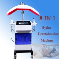 Wholesale mesotherapy led - New 8 in 1 Mesotherapy RF Hydra facial Dermabrasion Skin Cleansing LED PDT Oxygen Jet BIO Face Lift Ultrasonic Machine