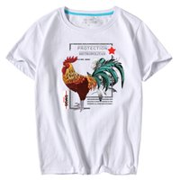 Wholesale large cock - Casual Men's short sleeve O-Neck Cock Printed large size T Shirts Summer High Quality Hipster tee shirts