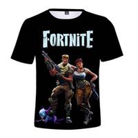 cráneos de la ropa de las mujeres al por mayor-Fortnite camiseta nueva camiseta de cráneo 3D de impresión fresca para hombres y mujeres Camiseta casual de verano para hombre transpirable camiseta hip-hop