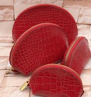 marka makyaj yapmak toptan satış-Kadın kozmetik çanta organizatör ünlü marka makyaj çantası tasarımcı seyahat çantası makyaj çantası bayanlar cluch çantalar organizador tuvalet çantası 4 adet