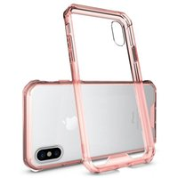 Wholesale bumper case cellphone online - high quality Clear Hard Bumper Protective Cover cellphone case for iPhone X plus