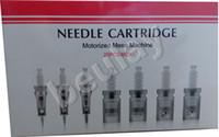 tipos de agujas al por mayor-Cartucho de aguja de envío gratis 1-42 pins / tipo nano para máquina meso motorizada MYM Derma Pen Microneedling automático puntas de pluma Derma eléctrico puntas