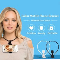 Wholesale Neck Collar Support - 2017 New Arrival Collar Hanging Neck Type Video Self Timer Mobile Phone Support For iPhone 6 7 Samsung S8 Xiaomi Huawei Oppo