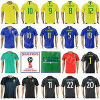 Wholesale national wine - Soccer Jersey 2018 World Cup Men 20 FIRMINO 15 PAULINHO 7 COSTA 19 WILLIAN 8 AUGUSTO Make Custom Football Shirt Kits National Team