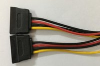 Wholesale parallel cables - SATA 4pin to 15pin Y splitter power cable