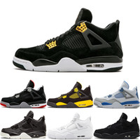 Wholesale black sports shoes online for sale - Group buy Online White Cement Bred Fire Red IV s Triple White Black Men Basketball Shoes Sneakers Sports Trainers Size For Sale