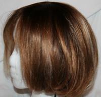 ingrosso parrucca marrone bionda capelli-EURO FIBRA GIAPPONESE CAPELLI FULL WIG DRITTI BIONDA BLONDE MARRONE AUBURN MARRONE MEDIO