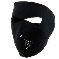 máscara de la cara negra para la venta al por mayor-Máscara de ejercicio de invierno ciclismo cara completa máscara de esquí a prueba de viento bicicleta de montaña al aire libre funcionamiento negro caliente de la venta