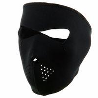 cara de máscara preta para venda venda por atacado-Máscara de Exercício de inverno Ciclismo Completa Rosto Máscara de Esqui À Prova de Vento Ao Ar Livre Bicicleta Bicicleta Correndo Preto Venda Quente