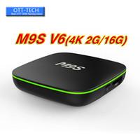 meilleures ventes de télévision achat en gros de-Vente d'usine Meilleur M9S V6 4K Smart Set Top Box Android 7.1 TV Box IPTV RK3229 Quad Core 2GB 16GB Bluetooth BET BET3 X96 S905W MIN9