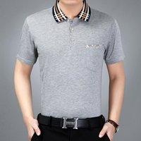 Wholesale turtleneck t shirts short sleeve - 2018 New Arrival Summer New Men's Short-sleeved T-shirt Men's Turtleneck Thin Polo Shirt Men's Shirt Free Shipping