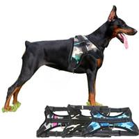 nylon haustier hundehalsband großhandel-Hot leuchtende Hundehalsband Geschirr für Hunde Haustiere Zubehör Geschirr Hund Halskette Welpen Brustband für Tiere K9 Haustier Brustkragen