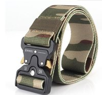 Wholesale outdoor vinyl - Hot Mens Tactical Belt Military Nylon Belt Outdoor multifunctional Training Belt High Quality Strap ceintures