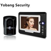 haus-videokameras großhandel-Yobang Sicherheit Freeship 7 Zoll Video Gegensprechanlage DoorBell Phone System Wasserdichte IR-Kamera Wired Intercom für Privathaus