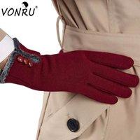 модные рукавицы оптовых-Женщины Зимние Теплые Перчатки Женская Мода Экран Сенсорные Наручные Перчатки для Женщин Грелки Варежки Luva Inverno S-ST60115