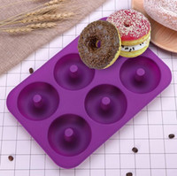 formstab großhandel-6 Hohlraum Antihaft Donut Form Donut Muffin Kuchen Silikon Donut Backformen Backform Form Pan EEA219 15 stücke