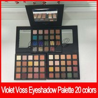 Wholesale palette metal - Violet Voss Eyeshadow palette 20 colors My holy Grail Laura Lee Drenched Metal eye cosmetics free shipping