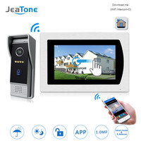 Wholesale touch screen alarm systems resale online - WIFI IP Video Door Phone Intercom Video Doorbell Touch Screen Apartment Access Control System Motion Detection Zone Alarm
