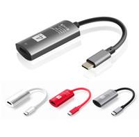 teléfono móvil hdtv al por mayor-4K USB-C Tipo C a cable HDMI hembra HDTV hdmi Adaptador para tabletas de teléfonos móviles con función de tipo c
