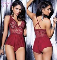 Wholesale color underwear sex resale online - 4 Color Lenceria Sexy Teddy Lingerie Women Hot Lace Open Crotch Erotic Plus Size Lingerie Porn Adult Sex Underwear S6350 S918