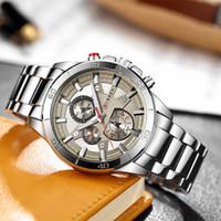 вахта стали curren оптовых-Relogio Masculino CURREN Men's Watches Stainless Steel Band Analog Quartz Wristwatch  Watch Men clock male reloj hombre