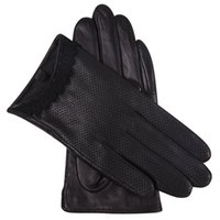 Wholesale black leather touchscreen gloves for sale - Group buy Genuien Leather Gloves Lady Autumn Sheepskin Gloves Driving Thin Style Breathable Touchscreen Woman L18001NN